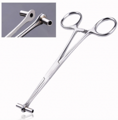 Top Grade Stainless Steel Tongue Lip Belly Nose Septum Body Piercing Accessory Tool Forcep