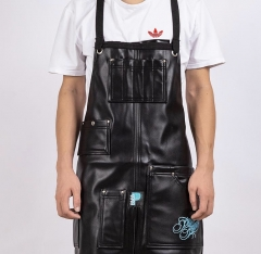 Qink Multi-functional Tattoo Calfskin Apron with Large-capacity Pocket Softness Clearning Supplies for Pro Tattoo Artist