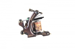 Tattoo Machine Gun Handmade 12 Wraps Pure Copper Coils For Liner and Shader