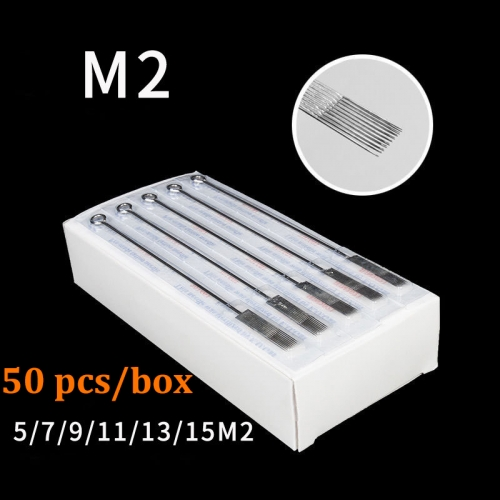 50Pcs/Box Pre-made Magnum 2 Sterilized Tattoo Needles Tattoo Needles Factory Wholesaler