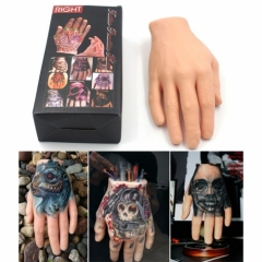 Synthetic Hand Tattoo Practice Skins Silicone Fake Hand for Both Apprentice & Experienced Tattooist