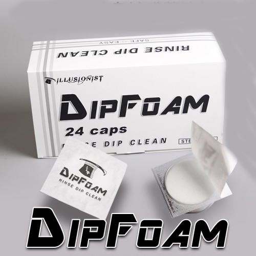 24pcs/bag Tattoo Disposable Dip Foam for Needle and Tip Rinse Dip Clean Professional Cartridge Dip Foam Cleaning Cup Tattoo Clean