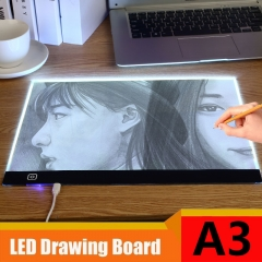 A3 LED Light Box Touch Control Dimmable Drawing Tracing Animation Copy Board Table Pad Panel Plate USB