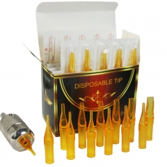 50pcs/box Gold Shark Disposable Tattoo Tip