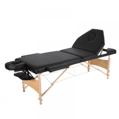 3 Section Massage Bed Portable Massage Table Stretcher